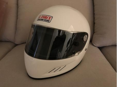 Auto Racing Helmet + Mechanics Gloves