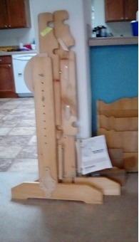 Hinterberg quilt frame with hardware, assembled